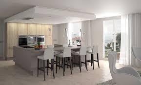 cuisine de loft cuisine contemporaine en bois avec îlot inside loft hardy