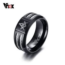 aliexpress buy vnox 2016 new wedding rings for women aliexpress buy vnox vintage 9mm masonic ring men jewelry