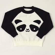panda sweater ins children s clothing baby panda sweater lovely knitting