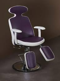metal makeup chair synthetic leather adjustable with