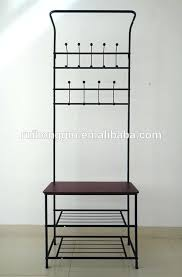 coat rack with bench storage cushion bench metal foyer hall tree