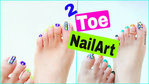 2 toe nail art ideas easy and cute pedicure desings style