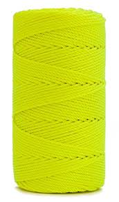 rosary twine rosary twine twisted size 36 neon yellow 1