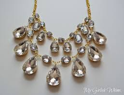 necklace rhinestone images Diy rhinestone statement necklace my girlish whims jpg