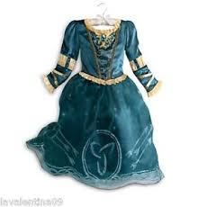 authentic disney store brave princess merida costume dress girls