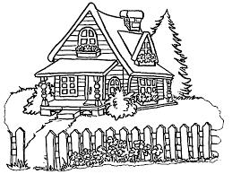 cartoon pictures of houses coloring home