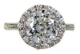 cz engagement ring halo design 2 62 ct brilliant cut cz engagement ring