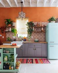 Kitchen Interiors 10 Ways To Bring The Outdoors In 28 Pics Moroccan Retro Fridge