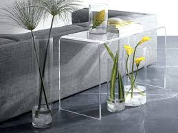 Console Tables Modern Narrow Console Table Acrylic Waterfall Clear