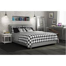 avenue greene misti grey linen upholstered bed free shipping