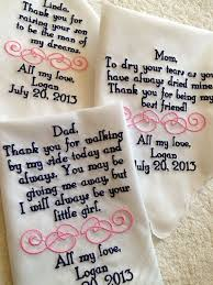 wedding gift ideas from parents personalized handkerchief gifts from set of 4 for of