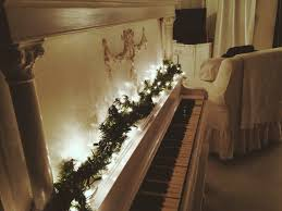 interior lighted leaf garland for staircase with