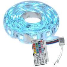 diy led strip light 1m smd rgb 5050 waterproof led strip light 60led dc 12v u0026 44 key