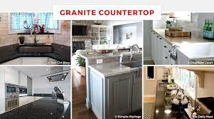 kitchen granite countertop ideas 55 best kitchen countertop ideas for 2018