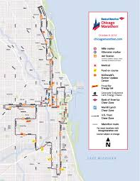 Map Chicago Chicago Marathon Map Chicago Map