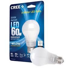 60w Led Light Bulb by Cree Ba19 08050omb 12de26 3 1 60w Equivalent 5000k A19 Led Light