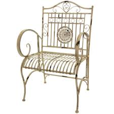 White Wrought Iron Patio Furniture by Oriental Furniture Rustic Wrought Iron Garden Chair Distressed White