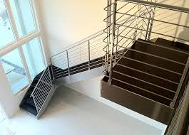 Glass Stair Banister Alstairways Modern Glass Metal Stair
