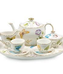 teapot set caroline s butterflies children s tea set the teapot shoppe inc