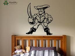 stickers pour chambre d enfant pirate sticker pour chambres d enfants dessin animé vinyle mur