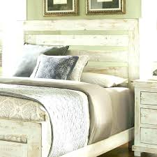 white distressed headboard white washed lightly distressed queen