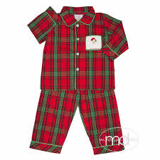 boy s pajamas three smocked santa loungewear