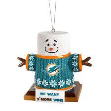 miami dolphins smores ornament