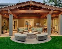 Patio Design Pictures Gorgeous Traditional Back Patio Designs With Plait Furniture Also