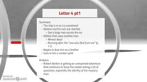 frankenstein letters analysis youtube