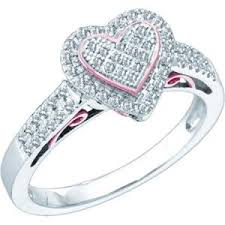 diamond heart ring 10k white gold 0 30 ctw diamond heart ring diamond bridal and