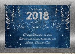 new year invitation new years party invitations 2018 style custom colors