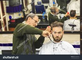 mens haircut barber shop marrakech morocco stock photo 351836993