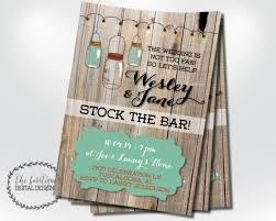 stock the bar shower stock the bar invitation housewarming invitation rustic stock