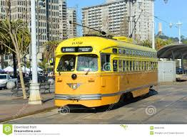 Trolley San Francisco Map by F Line Antique Streetcar San Francisco Usa Editorial Stock Image