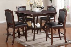 Espresso Dining Room Furniture Counter Height 36 Inch High Table Counter Height Casual Dining