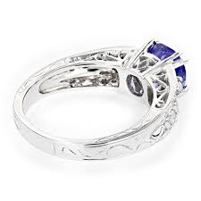 tanzanite engagement ring tanzanite engagement ring for 14k gold 0 3 ctd 1 5ctt