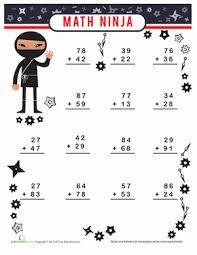 math ninja worksheet education com