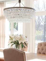 Light Fixture For Dining Room If You Want A Beautiful Drop Down Chandelier This Is It Crystal