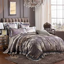Sateen Duvet Cover King Mkxi Paisley Jacquard Bedding European Luxury Duvet Cover Set
