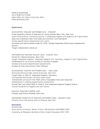 Sample Math Teacher Resume by Accounting Teacher Resume Moves For Career Changers Weekly