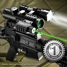 ak 47 laser light combo barska 4x30 ir sight w green laser 210 lumen flashlight bk