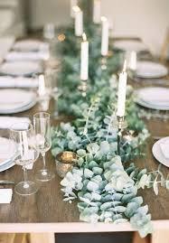 eucalyptus table runner diy table settings