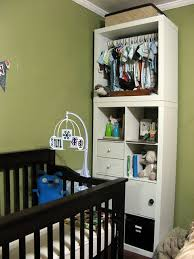 bookcase for baby room use the expedit as a baby closet ikea expedit closet rod and