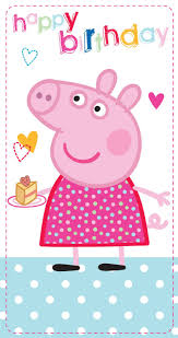 peppa pig birthday peppa pig slim happy birthday card toys
