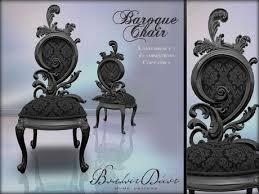 damask chair second marketplace boudoir baroque chair black damask