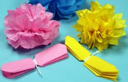 tissue paper flowers how to make tissue paper flowers