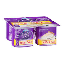 light and fit vanilla yogurt dannon light fit toasted coconut vanilla nonfat yogurt 4 ct reviews