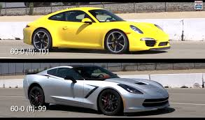 porsche 911 vs corvette 2014 chevrolet c7 corvette stingray versus 2013 porsche 911