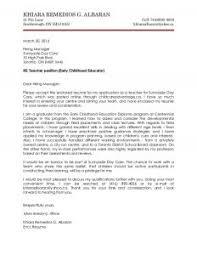 Sample Cover Letter For Teacher  sample application letter for     happytom co