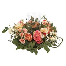 Floral Arrangement Rose Candelabrum Silk Flower Arrangement Silk Specialties